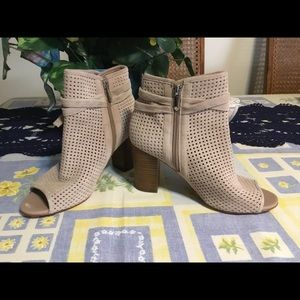 SAM EDELMAN TAUPE LEATHER BOOTS 7.5